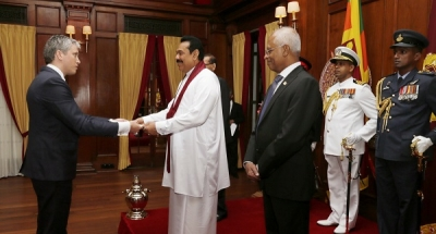 New Heads of Mission Present Credentials to President Rajapaksa