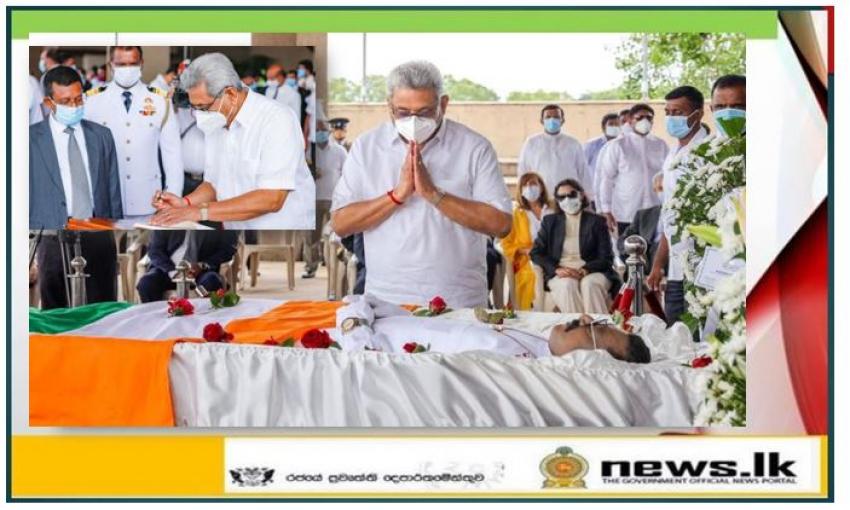 Dignitaries Pay Their Filial Tribute to Hon. Arumugam Thondaman at the Parliament Premises