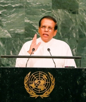President urges world to support forward march of Sri Lanka