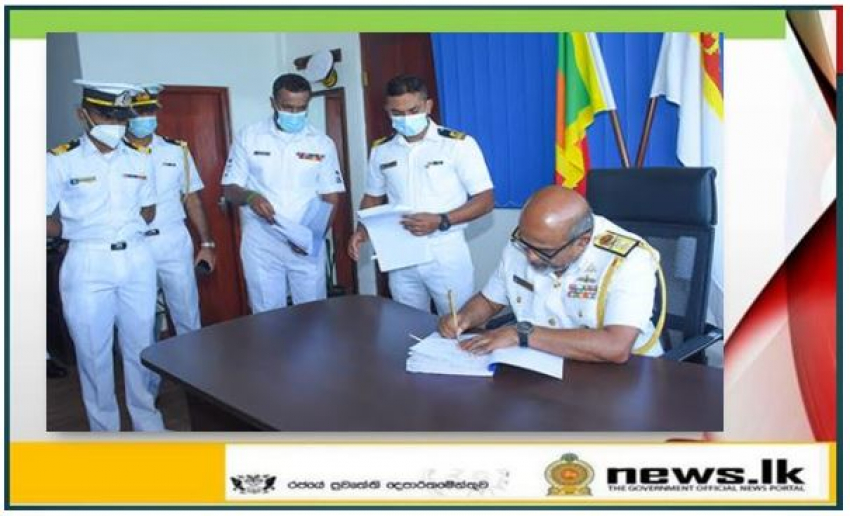 Rear Admiral Bandula Senarathne assumes duties as Commander North Central Naval Area