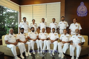 Outgoing Volunteer Naval Force CO pays farewell call on Navy Commander