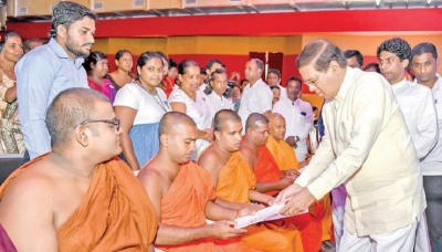 President participates special donation day at Polonnaruwa