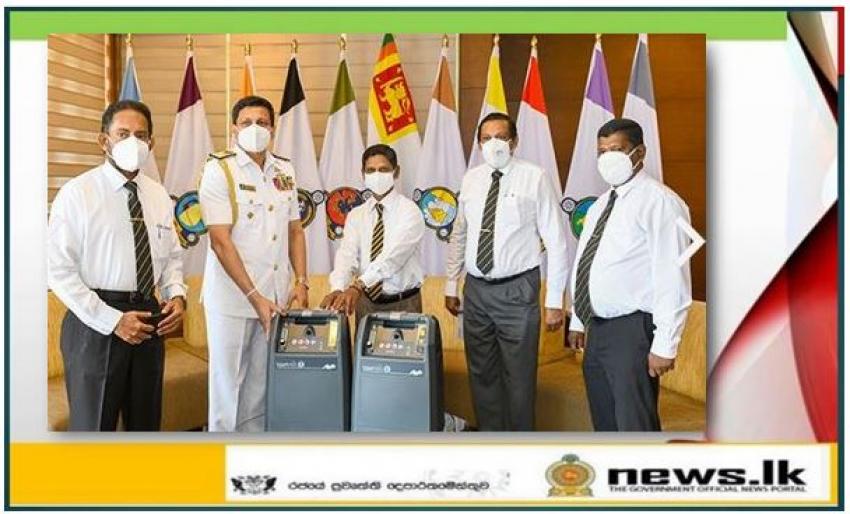 Navy General Hospital-Welisara receives oxygen concentrators