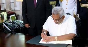 President assumes duties