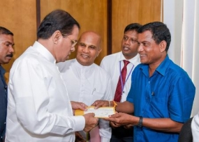 NP Councilor donates Rs. 100, 000 as relief aid