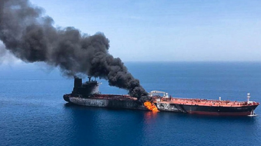 U.S. blames Iran for tanker attacks in Gulf of Oman, Iran rejects assertion