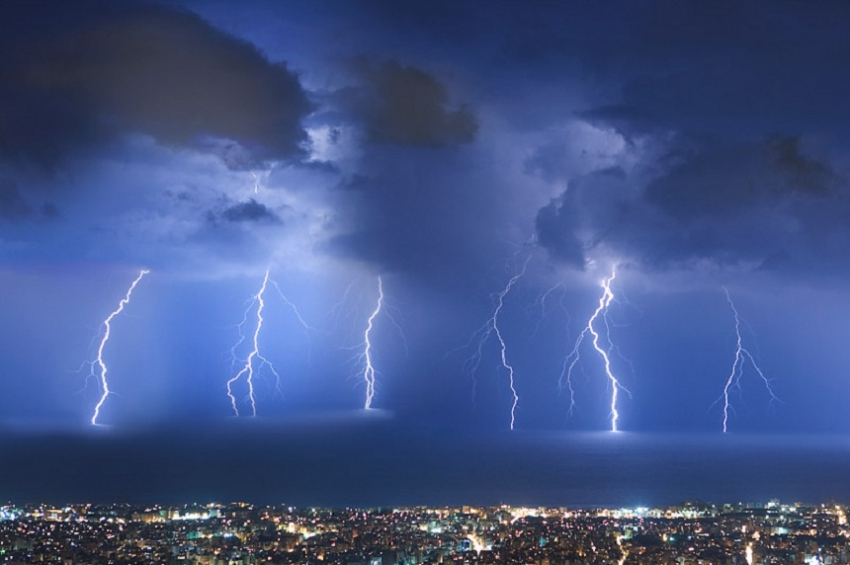 Thundershowers occur at several places after 2.00 p.m