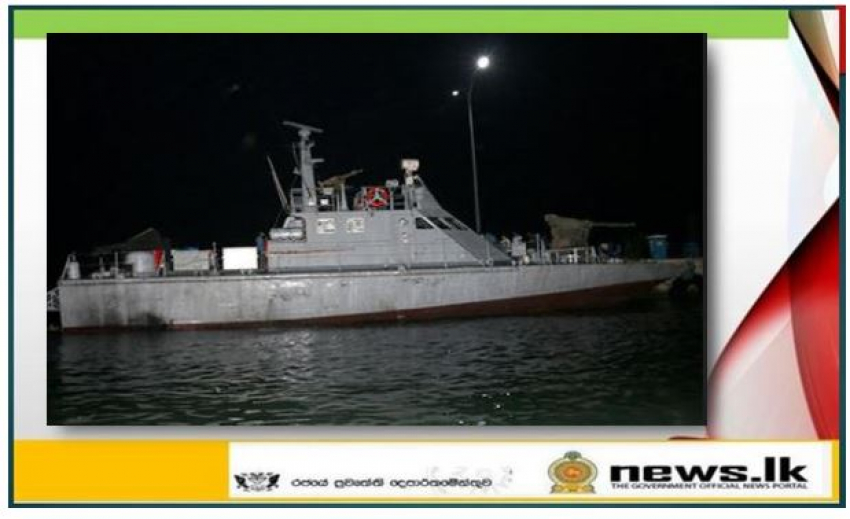 Navy in search and rescue operation to locate missing fisherman on sunken Indian poaching vessel in Sri Lankan waters