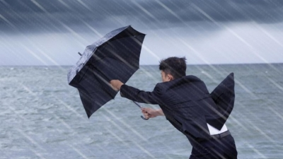 Rain in South and  strong gusty winds in the North