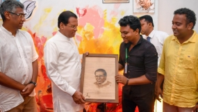 President hands over Open Display Boards build for street artists