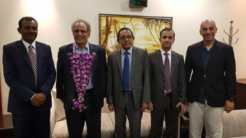 Oman's Oil and Gas Minister arrives in Lanka to attend  ceremony of oil refinery in Hambantota