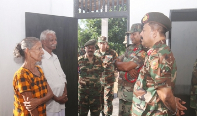 Troops Build New Home for 'Mother Courage' in Kilinochchi