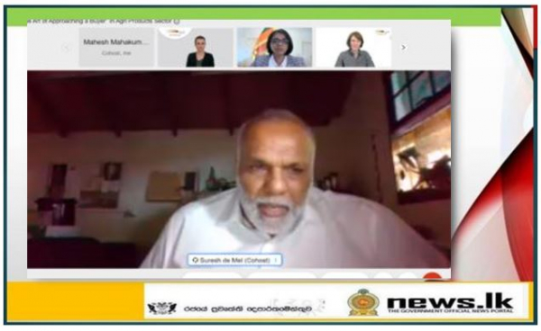 """Sri Lanka Embassy in Germany focuses on supporting Agri Exporters Webinar on """"The Art of Approaching a Buyer in Agri Products Sector"""""""
