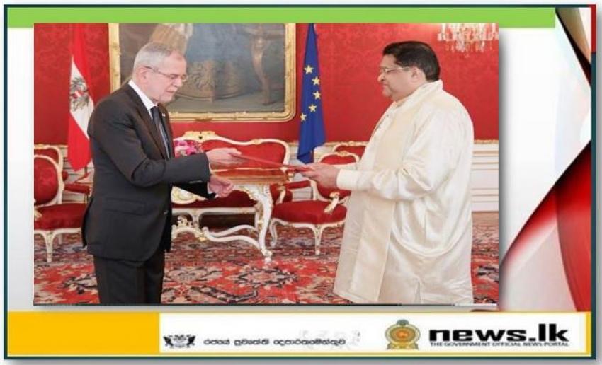 Ambassador Majintha Jayesinghe presented Letters of Credence in Austria