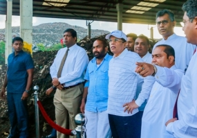 President lays foundation stone for waste-based electricity plant