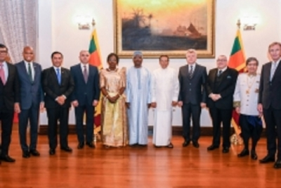 12 new  envoys present credentials to President