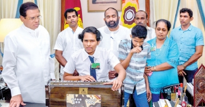 President fulfills visually impaired siblings' request