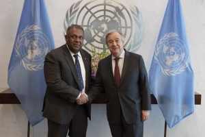 Finance Minister meets UN Secretary General