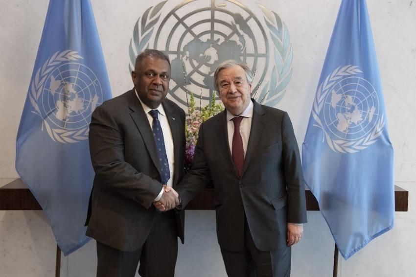 Finance Minister meets UN Secretary General