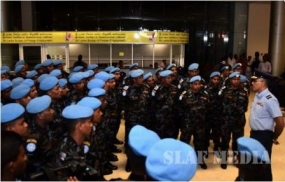 UN HELI-DEPLOYMENT to Central Africa leaves the island
