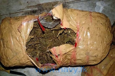 Navy finds 18.9kg of Kerala cannabis