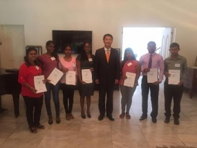 Korea awarded scholarships to eight Sri Lankan students