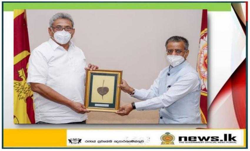 High Commissioner of India H.E. Gopal Baglay calls on President H.E. Gotabaya Rajapaksa