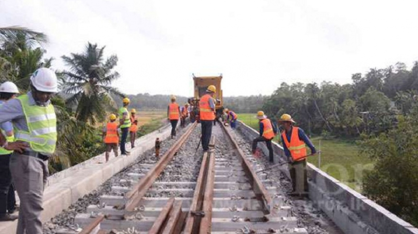 Railway line from Matara to Beliatta nearing completion