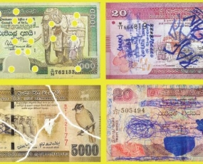 CBSL to stop making payments for defaced currency notes
