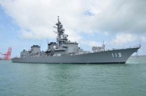 Two JMSDF ships arrives in Colombo harbour