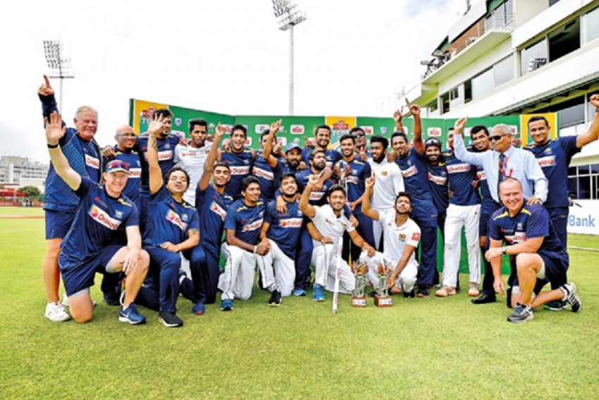 Leaders congratulate cricket team for Test series win