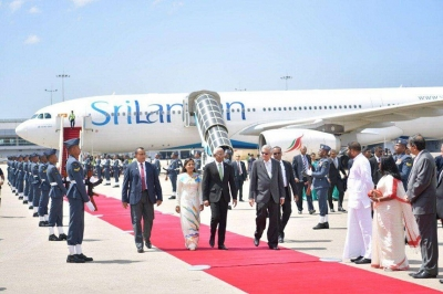 Maldivian President arrives in Sri Lanka