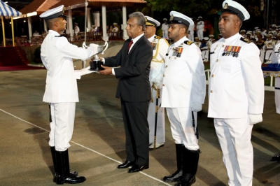 Secretary attends Navy Passing Out ceremony in Trincomalee