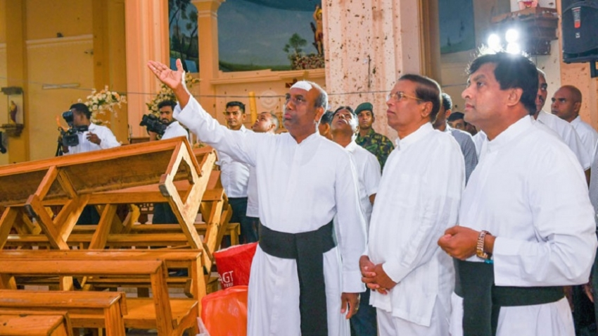 President visits St.Sebastian's Church