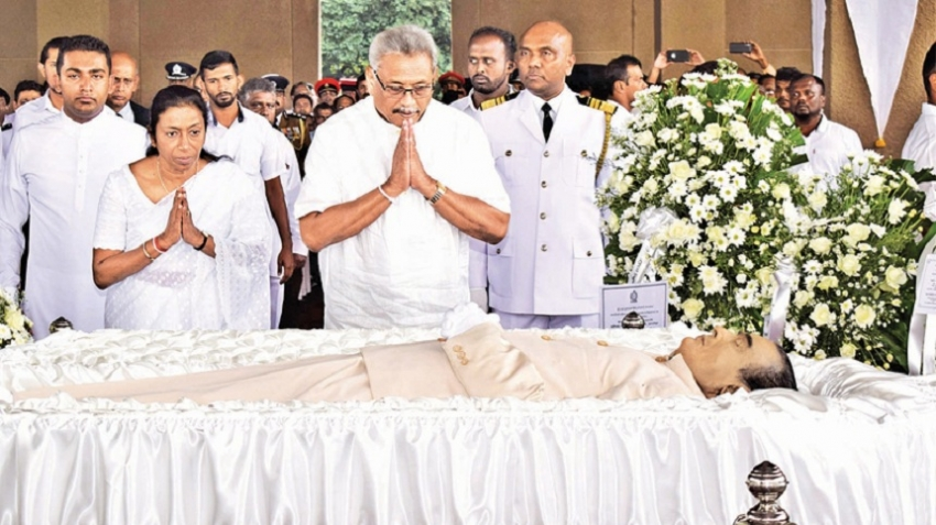PRESIDENT PAYS LAST RESPECTS TO FORMER PM