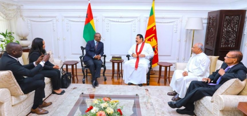 President of Guinea-Bissau meets Prime Minister during his brief visit to Sri Lanka