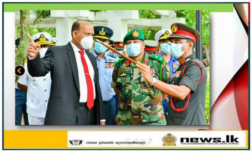 Secy Defence, CDS, Navy and Air Force Commanders Inspect New NDC Mansion Nearing Completion