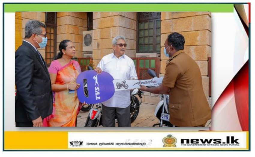 President presents motorbikes for PHIs