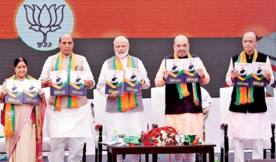 BJP releases election manifesto