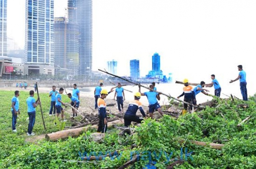 """Green and Blue Drive""-Navy's effort in conserving the beach eco system"