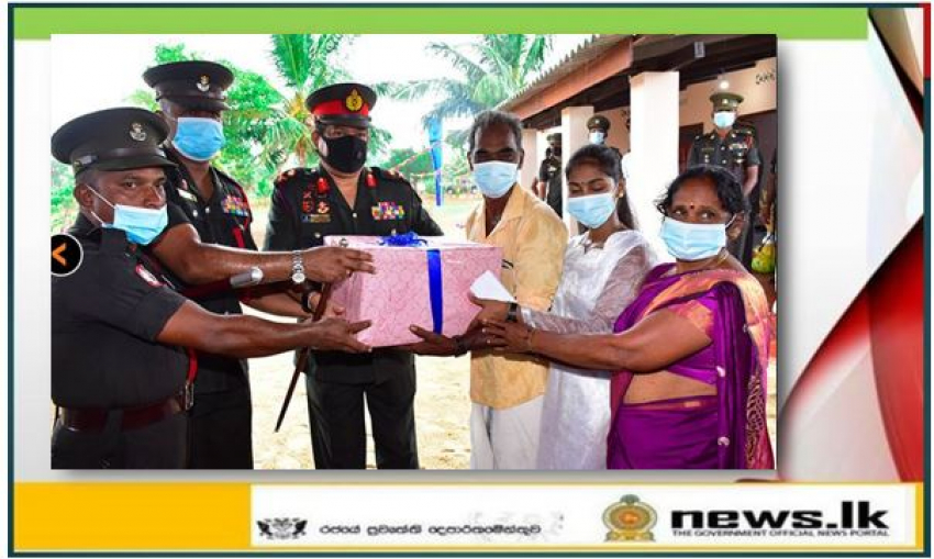 Two More Army Built Houses for the Homeless Warmed & Inaugurated in Kilinochchi