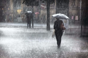 Showers occur at several places