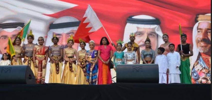 "Sri Lanka flag flies high at the ""Bahrain for All"" Festival"