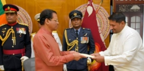 State Minister takes oaths as acting Defence Minister