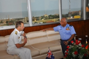 Australian Commander of Border Protection Command Visits AFHQ
