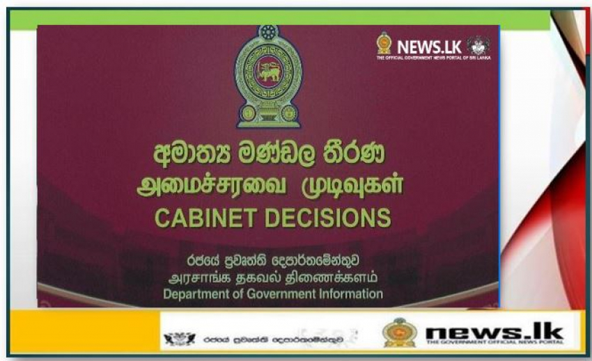 Decisions taken at the meeting of the Cabinet of Ministers held on 05.10.2021
