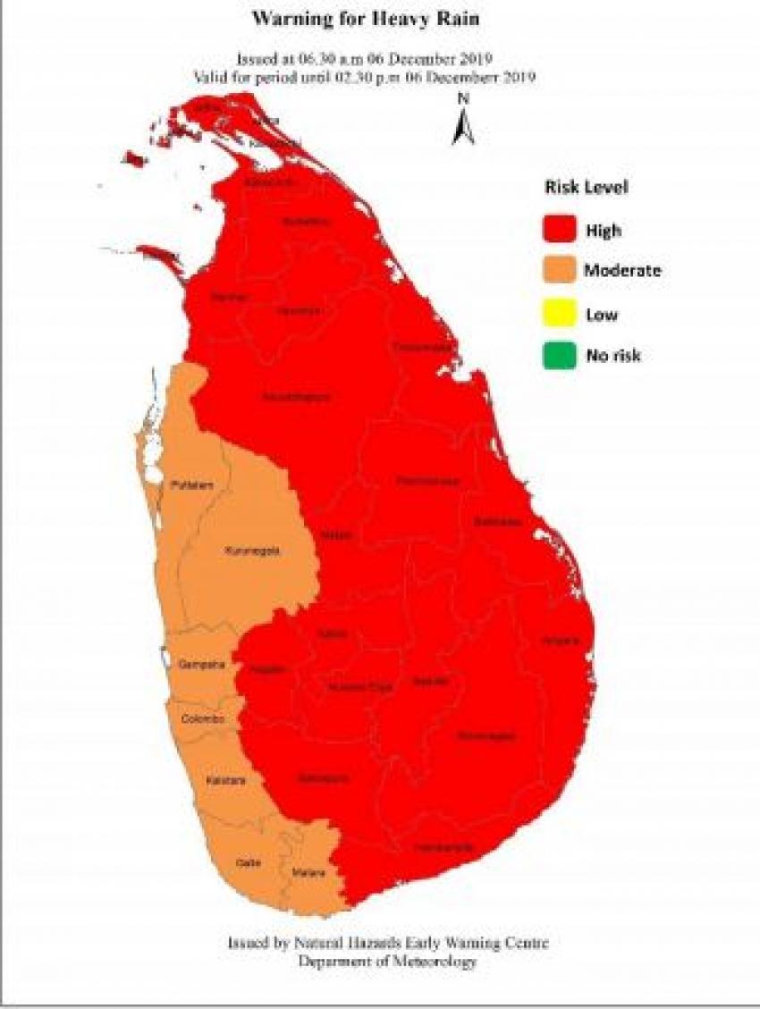 Red Warning for Heavy Rain