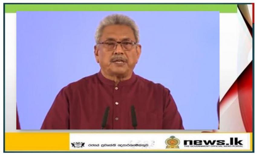 President Gotabaya Rajapaksa's special address to the nation
