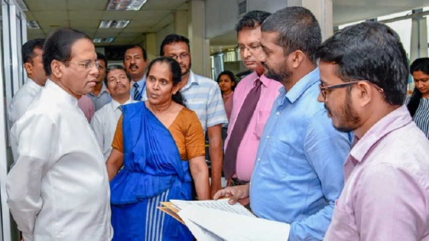 President on inspects Mahaweli and National Gem & Jewellery Authrities