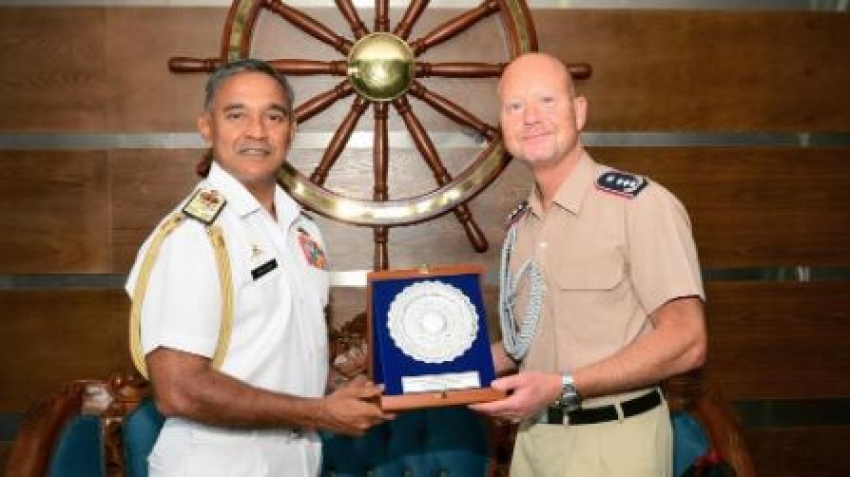 Military Attaché at the German Embassy in India visits Naval Headquarters
